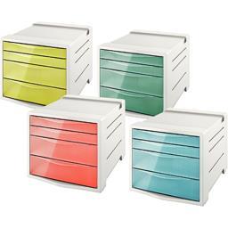 Bloc 4 tiroirs Colour Ice coloris assortis