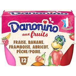 Danone Danone Danonino - Fromage blanc aux fruits les 12 pots de 50 g