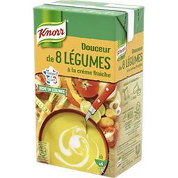 Knorr Knorr Soupe Douceur de 8 légumes à la crème fraîche la brique de 1 l