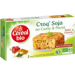 Céréal Bio Céréal Bio Croq' Soja BIO au curry & pavot les 2 Croq' de 100 g