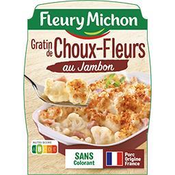 Fleury Michon Fleury Michon Gratin de choux-fleurs au jambon la barquette de 280 g