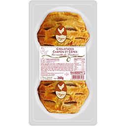 Sélectionné par votre magasin Croustade chapon cèpes pâte pur beurre la barquette de 2 - 260 g