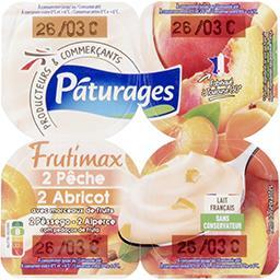 Frutimax - Yaourt pêche abricot avec morceaux de fruits