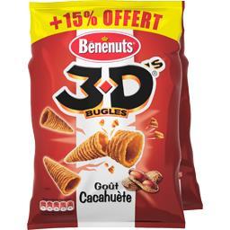 3D Bugles - Biscuits goût cacahuète