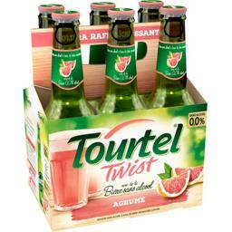 Tourtel Twist Tourtel Bière sans alcool Twist au jus d'agrume les 6 bouteilles de 27,5 cl