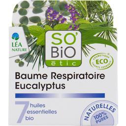 SO'BiO étic So'bio Etic Baume Respiratoire eucalyptus 7 huiles essentielles le pot de 50 ml