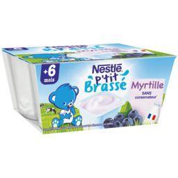 P'tit Brassé - Dessert myrtille, 6+ mois