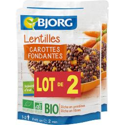 Lentilles carottes fondantes