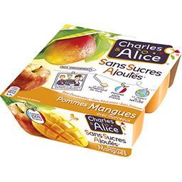Dessert pommes mangues sans sucres ajoutés