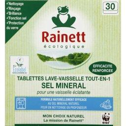 Tablettes lave-vaisselle tout en 1, sel minéral