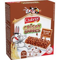 Barres de céréales Crispy chocolat au lait