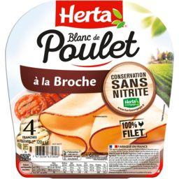 Herta Herta Blanc de poulet à la broche la barquette de 4 tranches - 120 g