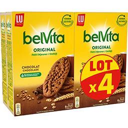 LU LU Belvita Petit Déjeuner - Biscuits Original chocolat ...
