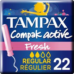 Tampons Compak Active Fresh Régulier applicateur x22 Tampax