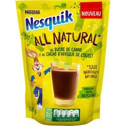 Nestlé Nestlé Chocolat Nesquik - Chocolat en poudre All Natural le sachet de 168 g