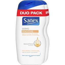 Sanex Sanex Crème de douche Dermo Sensitive les 2 flacons de 500 ml