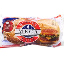Pains pour hamburger Mega