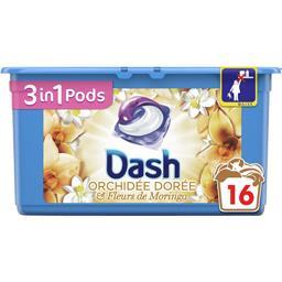 Dash 3en1 - pods - orchidée dorée - lessive en capsules -...