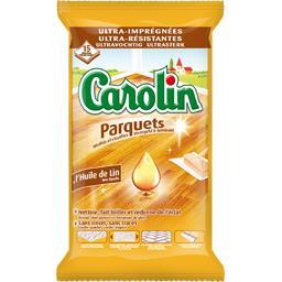 Carolin Carolin Serpillières à l'huile de lin parquets le paquet de 15