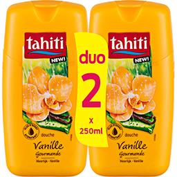 Tahiti Tahiti Gel douche vanille gourmande les 2 flacons de 250 ml