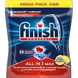 Finish Tablettes lave-vaisselle  All in 1 Max parfum ...