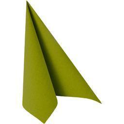 Serviettes 3 plis 40x40 cm Royal Collection vert olive