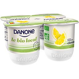 Yaourts citron Le BIO