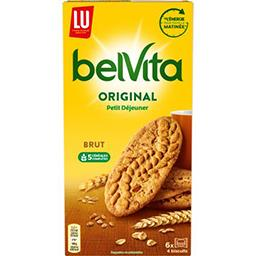 LU LU Belvita Petit Déjeuner - Biscuits Original brut & 5 céréales complètes la boite de 32 biscuits - 400 g