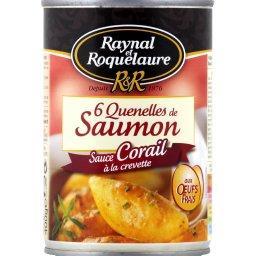 Quenelles de saumon sauce corail à la crevette