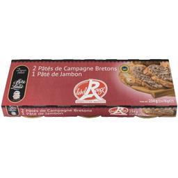 Mère Lalie Assortiment pâté de campagne/pâté de jambon Label Ro... les 3 boites de 78 g