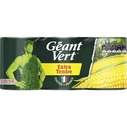 Géant Vert Géant Vert Maïs doux extra tendre les 3 boites de 140 g net égoutté
