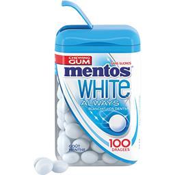 Always Mentos White Always - Chewing-gum goût menthe sans sucres la boite de 106 g