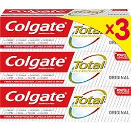 Colgate Colgate Total - Dentifrice Original les 3 tubes de 75 ml