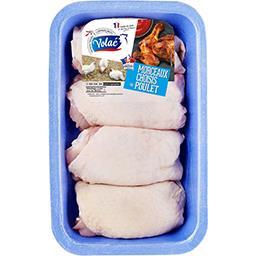 Hauts de cuisse de poulet blanc x4