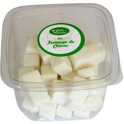 Dés de fromage de chèvre, au lait pasteurisé, PETIT MARCHE, 32% de MG, 120g
