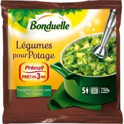 Légumes pour potage courgettes haricots verts pois brocolis