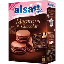 Préparation pour 12 macarons au chocolat