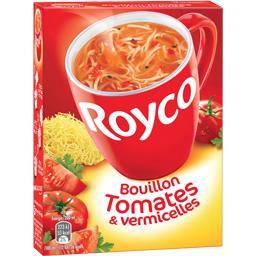 Royco Royco Bouillon de tomates & vermicelles la boite de 3 sachets - 42 g