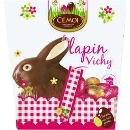 Cémoi Le Lapin Vichy chocolat au lait avec œufs pralinés