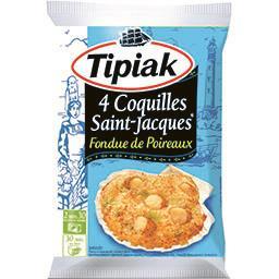 Tipiak Tipiak Coquilles Saint-Jacques fondue de poireaux le sachet de 4 - 360 g
