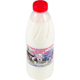 Lait frais pasteurisé entier de vache des hautes Alp...