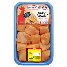 Cubes de filet de poulet jaune
