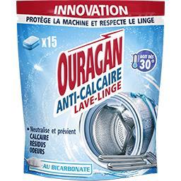 Ouragan Ouragan Tablettes anti-calcaire lave-linge au bicarbonate le paquet de 15 tablettes - 140 g