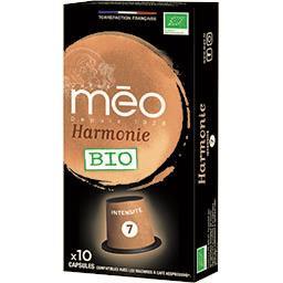 Méo Méo Capsules de café moulu Harmonie BIO la boite de 10 capsules - 53 g