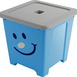 Cube de rangement Happystore 36 l bleu argent