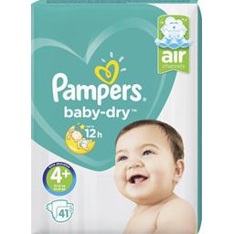 Pampers Pampers Baby-dry - taille 4+ 10-15 kg - couches Le paquet de 41 couches