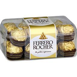 Ferrero Ferrero Rocher - Bonbons de chocolat au lait noisette la boite de 16 pièces - 200 g