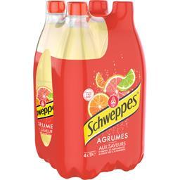 Schweppes Soda aux Agrum' les 4 bouteilles de 1 l