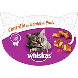 Whiskas Whiskas Les Irrésistibles - Friandises Contrôle des boules de poils pour chats la boite de 60 g