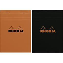 Rhodia Rhodia Bloc non perforé 148x210 5x5 coloris assortis le bloc de 160 pages